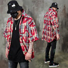 NewStylish Mens Big lettering checkered button up shirts