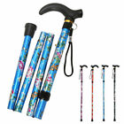 Lightweight Easy Folding Aluminium Walking Stick  Walking Cane adjustable height