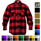 Plaid Flannel Shirt Brawny Buffalo Heavyweight Long Sleeve Checkered Lumberjack