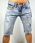 True Religion Men's Ricky Relaxed Straight Cut Off Big T Shorts - 102519