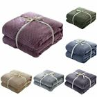 Flannel Blanket Soft Warm Faux Fur Throw Fleece Blanket Mink Sofa Bed Luxu#s #mi image