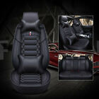 2019 Fiber Leather Car Seat Covers Cushions Protector 5-Seats Universal Full Set $151.99 USD on eBay