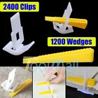 400/800/1600 Tile Leveling System Clips + Wedges Floor Wall Plastic Spacers Kit