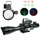 Hunting 4-12X50EG Rifle Scope with Holographic 4 Reticle Sight & Red Laser JG8