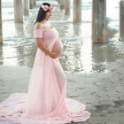Women Maternity Pregnancy Lace Long Maxi Tulle Dress Ball Gown Photography Props