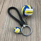 Mini PVC Volleyball woven keychain Key Ring Sports Pendant Volleyball Team Gift