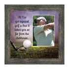 **NEW** Golf, Funny Golf Gifts for Men and Women, Picture Framed Poem, 6x12 7367