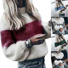Fall Women Lady Collar Loose Knitted Pollover Sweater Blouse Winter Sweater GIFT