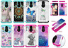 For LG Q7/Q7Plus Shockproof Soft Silicone Hybrid TPU Diamond Painted Case Cover