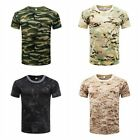 M-3XL Men Camo T-Shirt Military Blouse Short Sleeve Tee Army Camouflage Tops image