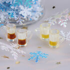 10Pcs 1:12 dollhouse miniature kitchen beer glass food drink cups mug bar dec`US