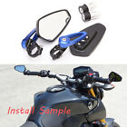 "Sportbike 7/8"" Handle Bar End Mirrors For Yamaha Yamaha FZ07 FZ09 2015 2016 2017 $25.3 USD on eBay"