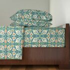Vintage Floral Persian Ancient Arabic 100% Cotton Sateen Sheet Set by Roostery image