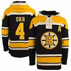 Bobby Orr 47 Brand Hockey Lacer Jersey Hoodie Old Time Hockey Fleece Sweater