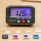 Small LCD Screen Digital Time&Date Alarm Clock Stop Snooze Battery Powered