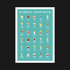 Cocktails Print / Poster - 30 Mixoligy Recipes Alcohol Drinks Guide - A5 A4 A3