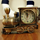HK- Mini Locomotive Train Alarm Clock Quartz Movement Plastic Home Table Decor H