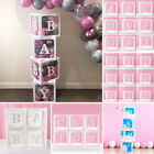 Letter A-z Cube Transparent Gift Boxes Kid Birthday Baby Shower Party Decoration