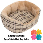 Zoolove Sweet Home Snuggle Bed Small Or Medium Size Cosy And Comfy Den + Toys