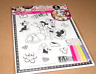 Minnie Mouse 3D Poster Color Set with Markers Puffy 3D NEW. SUPER CUTE US SELLER