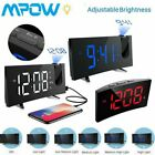 Projection Alarm Clock LED Digital FM Radio Projector Snooze Sleep Timer Dimmer