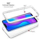 Ultra Slim Shockproof 360° Full Protect Rubber Clear Front+Back Phone Case Cover