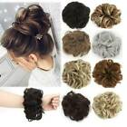 synthetic wavy hair bun flexible messy curly extensions scrunchie wrap ponytail