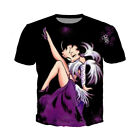Betty Boop Funny 3D Print Casual T-Shirt Fashion Women Men Short Sleeve Tops $13.87 CAD on eBay