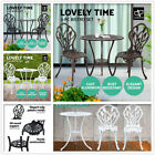 3pc Outdoor Setting Cast Aluminium Bistro Table Chairs Garden Patio Dinning Set