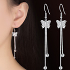 Womens Earrings Hoop / Drop Crystal Pearl Ear Stud 925 Sterling Silver Plated