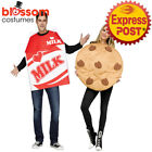 CA485 Cookies and Milk Couples Pair Tunic Costume Foodie Funny Halloween Outfit