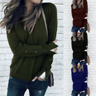1-Women Ladies Long Sleeve Shirts Blouse Sweater Sweatshirt Jumper Pullover Tops