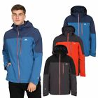 Trespass Tappin Mens Waterproof Hooded Jacket Raincoat In Black Blue Red