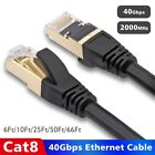 Ultra High Speed Ethernet CAT 8 LAN Patch Cable Cord for Mac PC Modem Router Lot