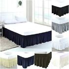 Elastic Bed Ruffles Wrap Around Bed Skirt 100% Cotton 800 TC Size Twin image