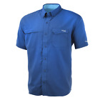 50 Off HUK Tide Point Short Sleeve Fishing Shirt--Pick Color/Size-Free Shipping