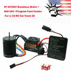 3650 3900KV Brushless Motor+60A ESC+Program Card Combo Set for 1/10 Truck Car US