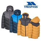 Trespass Luddi Boys Waterproof Jacket Padded Puffa Coat With Hood