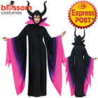 CA805 Evil Queen Maleficent Deluxe Gown Sleeping Beauty Witch Halloween Costume