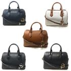 Michael Kors Bedford Large Duffle Satchel Handbag Purse Crossbody Leather