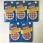 lot of 5 packs vintage solid head metal Amtac Thumb Tacks red white chrome gold