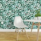 Wallpaper Roll Floral Watercolor Green Emerald Jade Botanical 24in x 27ft