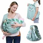 Baby Wrap Carrier Newborn Sling Dual Use Infant Nursing Cover Breastfeed 0-36M