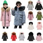 Winter Kids Boy Hooded Long Parka Padded School Quilted Coat Jacket Puffer US