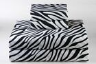1 Flat/ Top Sheet High-Quality 100% Cotton 900 Thread Count Zebra Print image