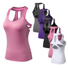 Lively-Dry S-XXL Women Yoga Tops Tank Top Vest Tee Sleeveless Activewear Fit