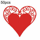 50Pcs Wine Glass Cup Name Cards Hollow Heart Wedding Party Table Decor Welcome