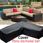 Patio Sofa Cover V-shap Furniture Cover Outdoor Garden Lounge Couch Protector