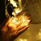 LEDs Christmas Snowflakes String Fairy Lights Ornaments Tree Decorations Home