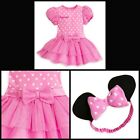 NEW**DISNEY STORE** BABY GIRL MINNIE MOUSE PINK BODYSUIT SIZE (12-18)(18-24) MOS